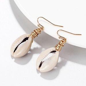 Coming Soon! Handmade Cowrie Shell Wrap Earrings